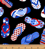 Celebration Flip Flops - Red, White & True by Kanvas Studio for Benartex