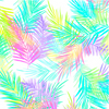 Tropical Breeze - Island Palm Leaves White by Kanvas Studio for Benartex