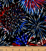 Red, White & True Patriotic Firework Celebration Black by Benartex 9703-12