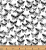 Tonal Butterflies White/Black by Kanvas Studio for Benartex 7811-99