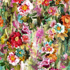 Busy Blooms Multicolor Florals Spectrum Digital Print by Hoffman Fabrics