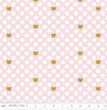 Chloe & Friends Cat Dot Pink Gold Sparkle by Riley Blake SC8912-PINK