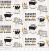 Homestead Life - Cows and Farm Life Phrases on Cream by Riley Blake C9450-CREAM