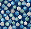 Tree Traditions - Hanging Ornaments Midnight/Silver Metallic by Hoffman Fabrics S7724-128S
