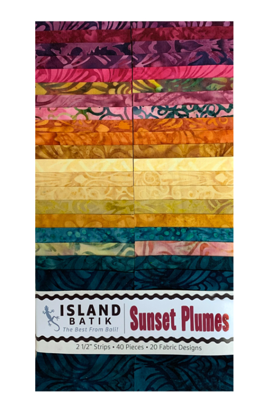 Sunset Plumes Batiks Strip Pack by Island Batik | Royal Motif Fabrics