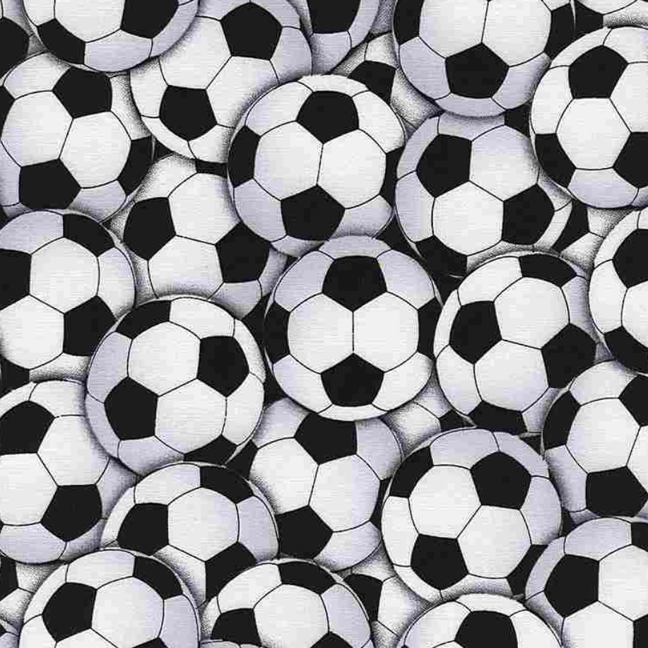 Goal! - Packed Soccer Balls by Gail Cadden for Timeless Treasures