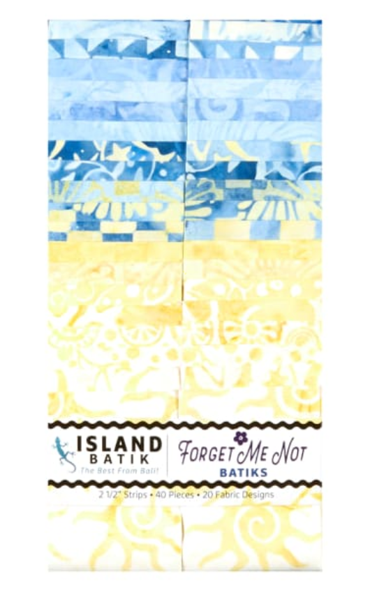 Forget Me Not Batiks Strip Pack by Island Batik | Royal Motif Fabrics