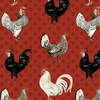 Free Range Fresh - Large Chickens Red by Wilmington Prints