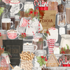 Hot Cocoa Bar - Packed Hot Cocoa Bar on Gray by Wilmington Prints