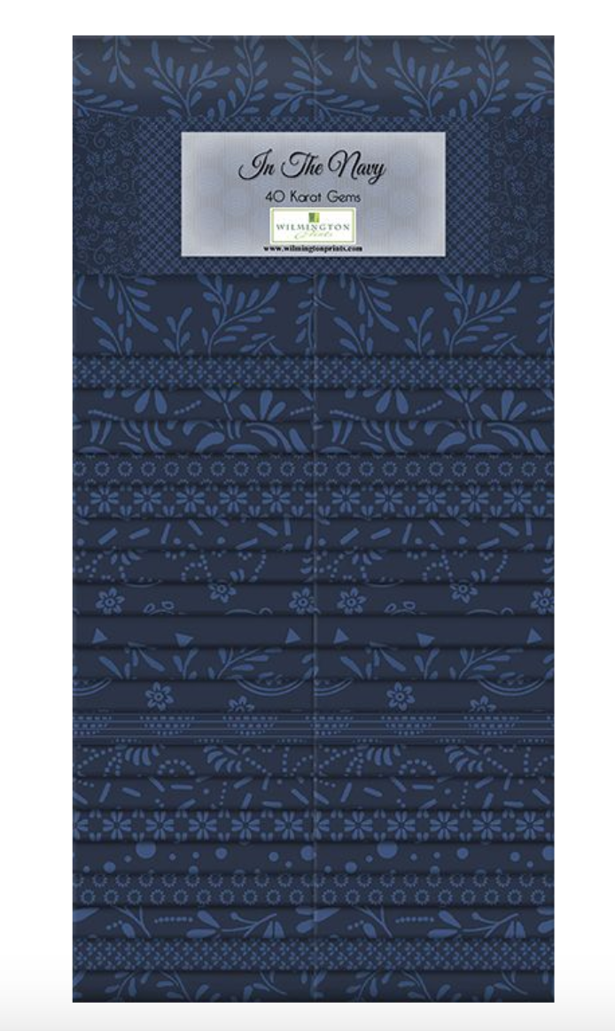 In The Navy 40 Karat Gems by Wilmington Prints | Royal Motif Fabrics