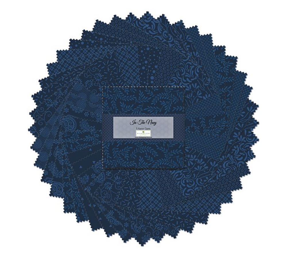 Wilmington In The Navy Essentials 5 Karat Gems/Charm Pack | Royal Motif Fabrics