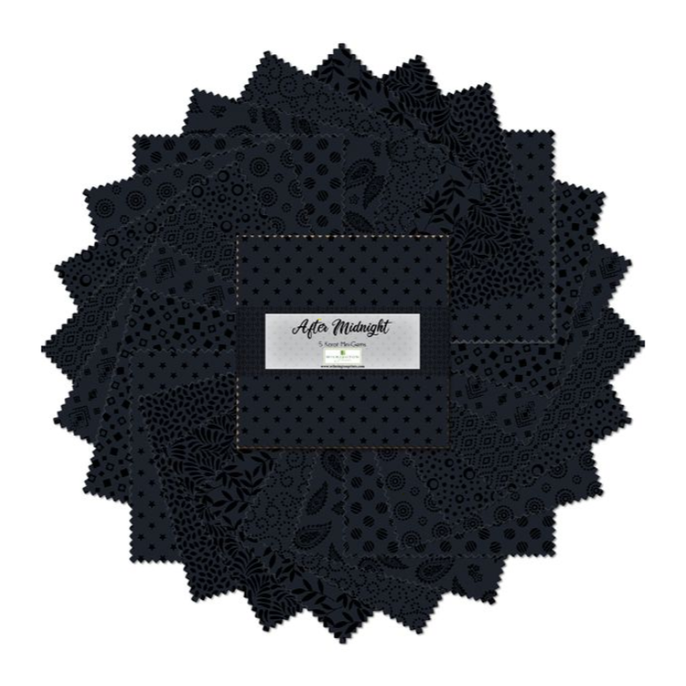 After Midnight 5 Karat Mini Gems by Wilmington Prints | Royal Motif Fabrics