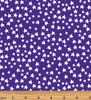 Glow For It - Star Glow Purple Glow in the Dark Fabric by Kanvas Studio - Benartex
