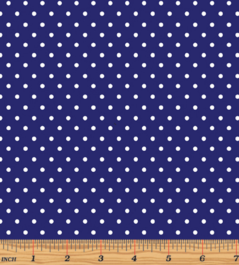 Glow For It - Glow Dots Navy Glow in the Dark Fabric by Kanvas Studio - Benartex