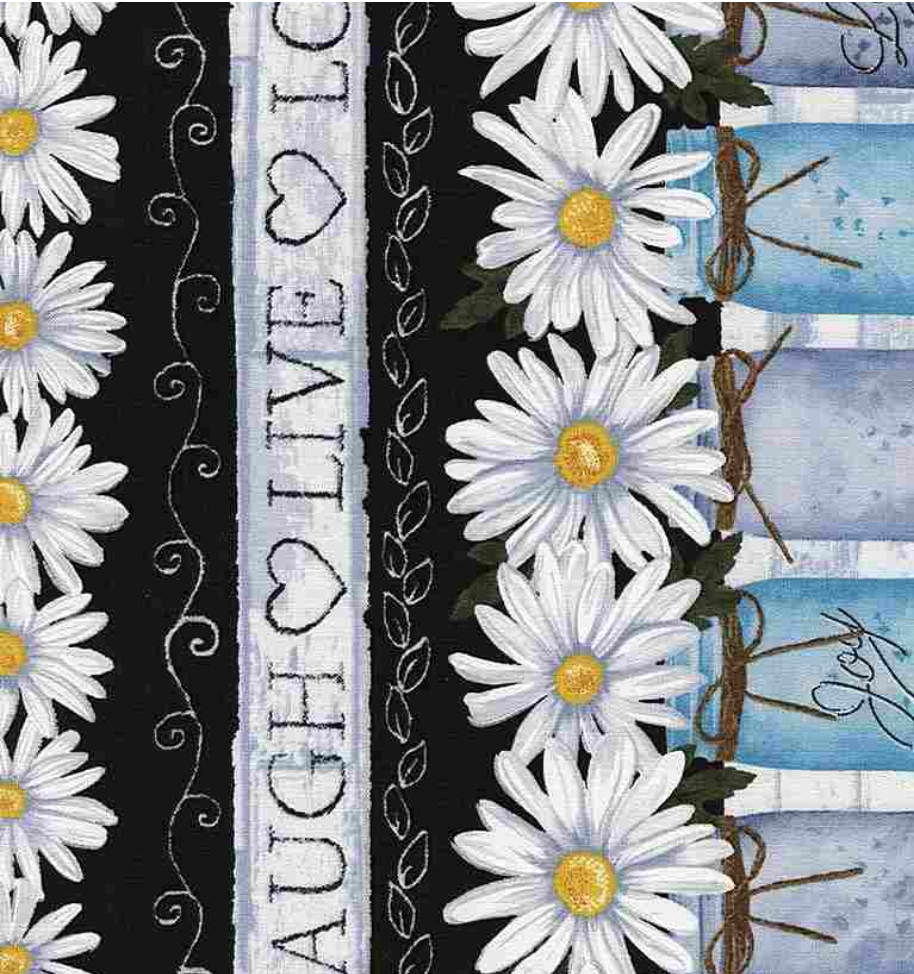 Sunny Days - Daisy Stripe by Timeless Treasures | Royal Motif Fabrics