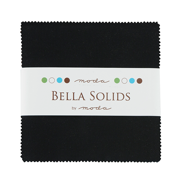 Bella Solids Black Charm Pack by Moda Fabrics | Royal Motif Fabrics