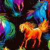 Spirit - All Over Painted Horses by Timeless Treasures | Novelty Fabrics