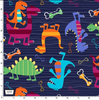 Dino World - Dino Dudes Midnight by Michael Miller | Royal Motif Fabrics