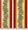 Winter's Grandeur 8 - Holiday Gold Metallic Pine Branch Stripes by Robert Kaufman