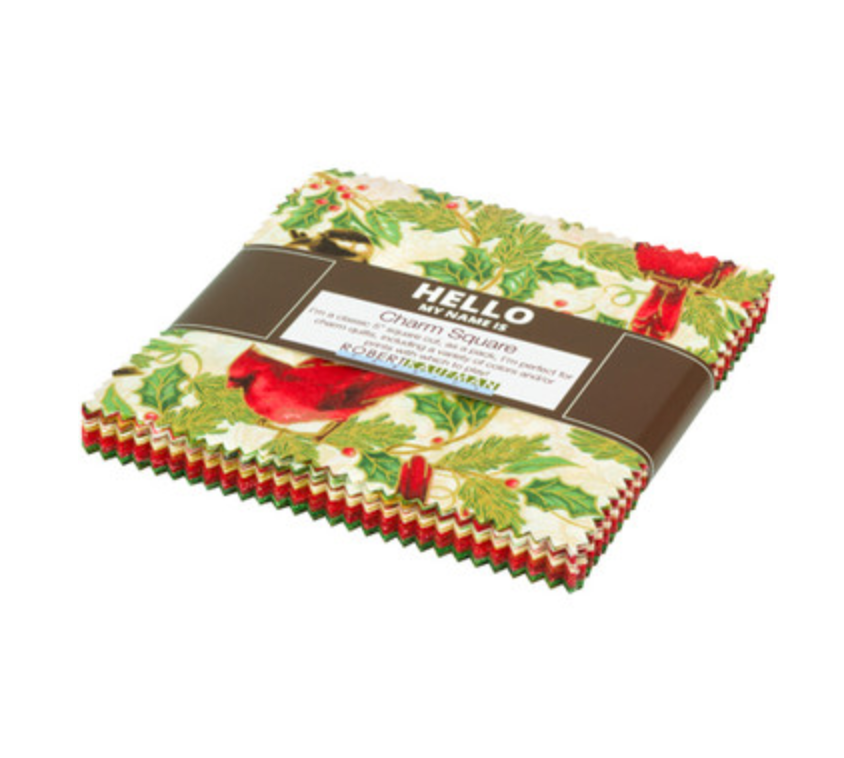 Winter's Grandeur 8 - Holiday Colorstory Charm Squares by Robert Kaufman