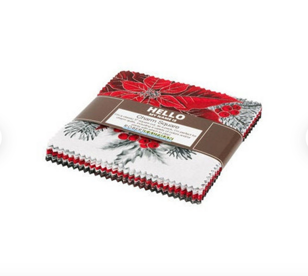 Robert Kaufman - Holiday Flourish 13 Silver Colorstory Charm Squares CHS-886-42