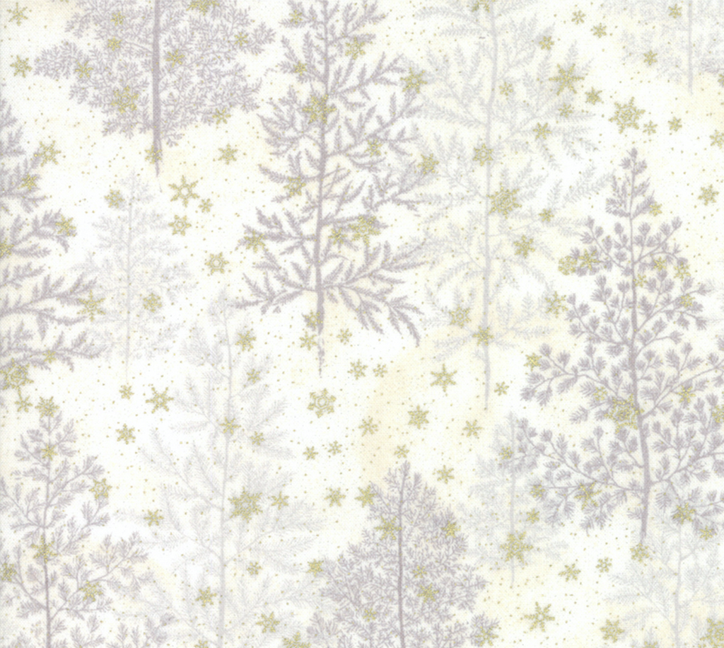 Forest Frost Glitter Snow - Pine Trees by Moda Fabrics | Royal Motif Fabrics