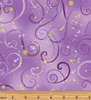 Dance of the Dragonfly Swirling Sky Violet by Kanvas Studio/Benartex 8500M-06