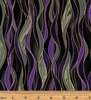Dragonfly Dance - Dancing Waves Black/Purple by Kanvas Studio/Benartex 8503M-11