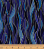 Dragonfly Dance - Dancing Waves Navy/Blue by Kanvas Studio/Benartex 8503M-55