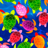 Tropical Breeze - Watercolor Turtles Blue by Kanvas Studio for Benartex