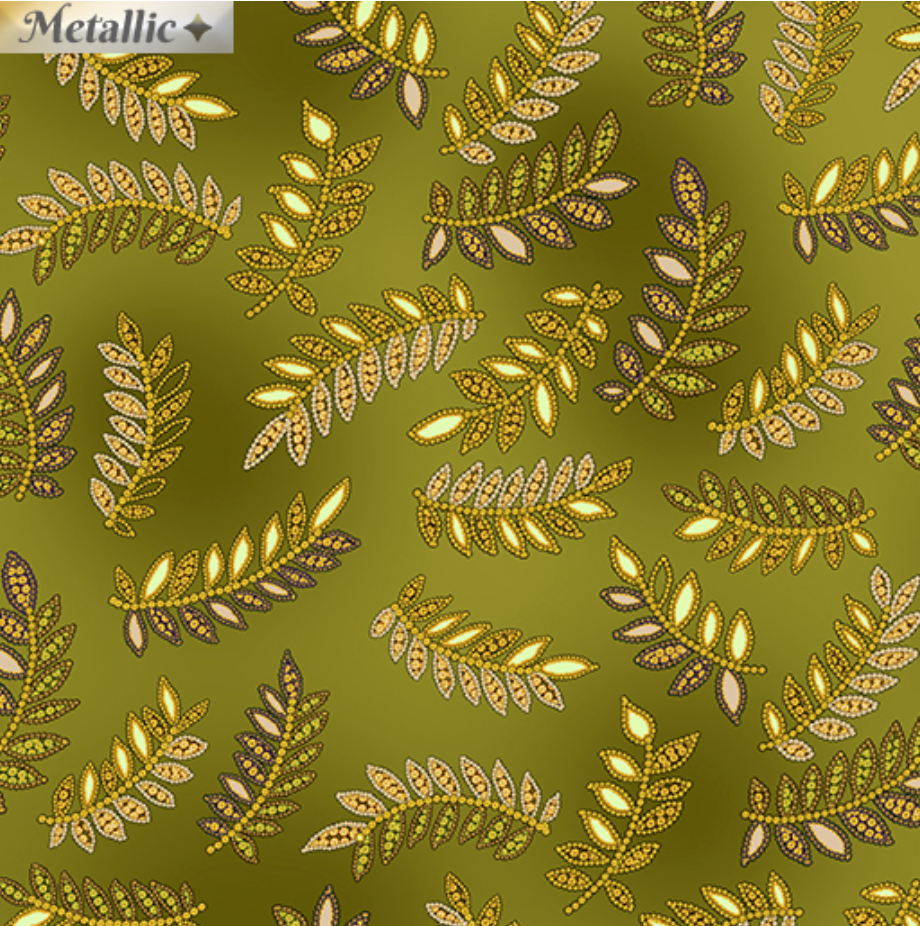 Radiance - Radiant Ferns Green by Kanvas Studio for Benartex 9745M-44