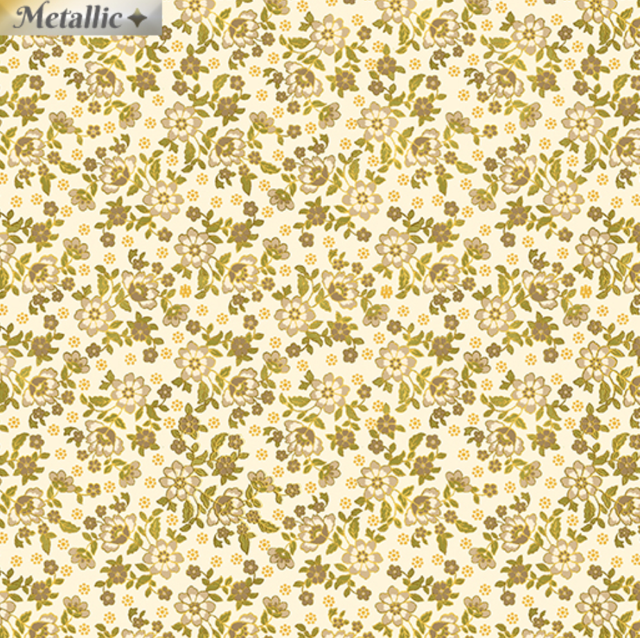 Radiance - Radiant Mini Blossoms Cream Tan by Benartex 9746M-70