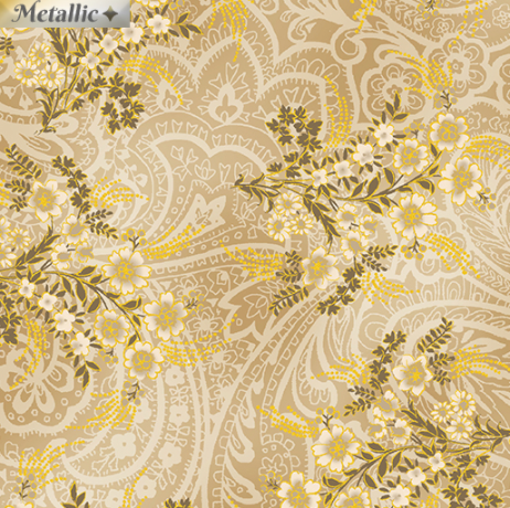 Radiance - Radiant Bouquets Beige by Kanvas Studio for Benartex 9744M-70