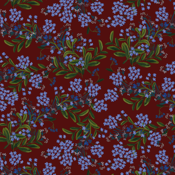 Meadow - Cornflower Burgundy by Rifle Paper Co. for Cotton + Steel | RP203-MA2
