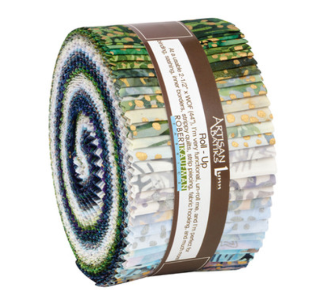 Robert Kaufman Artisan Batiks Twilight Snowfall Roll Up/Jelly Roll | RU-914-40