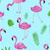 Tropical Breeze - Flamingo Frenzy Turquoise by Kanvas Studio for Benartex