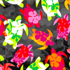 Tropical Breeze - Aloha Turtles Black by Kanvas Studio for Benartex