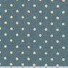 Sevenberry Canvas Natural Dots - Dots on Blue by Robert Kaufman