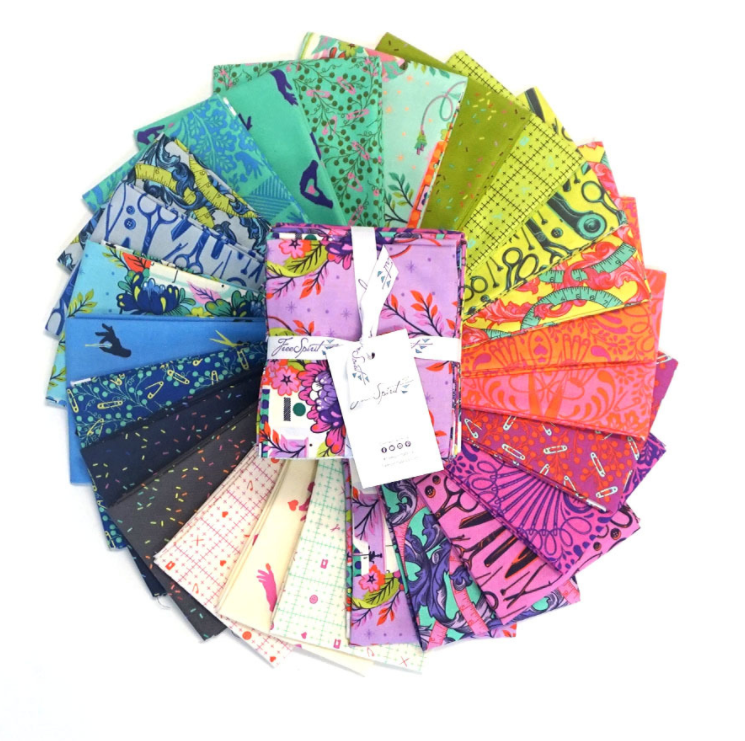 HomeMade Fat Quarter Bundle by Tula Pink for Free Spirit | Royal Motif Fabrics