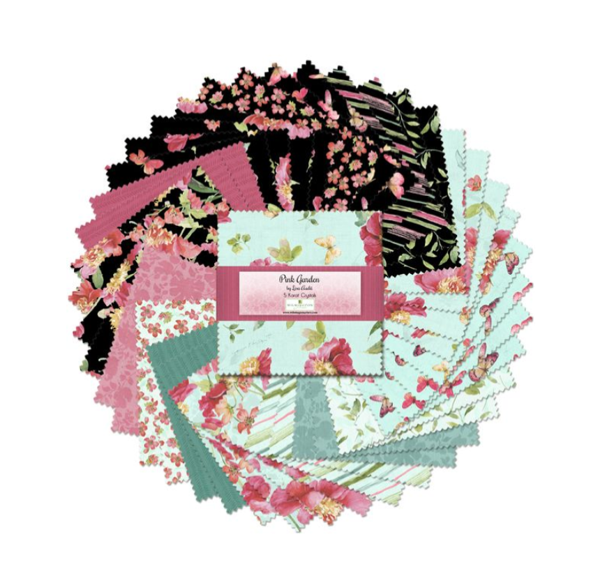 Pink Garden 5 Karat Crystals/Charm Pack by Wilmington Prints | Royal Motif Fabrics