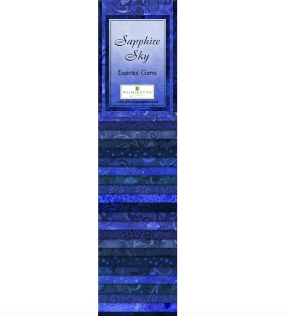 Sapphire Sky Essential Gems Strip Pack by Wilmington Prints | Royal Motif Fabrics