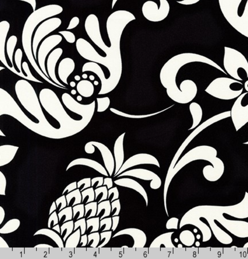 Island Paradise Tropical Florals Black by Robert Kaufman | SB-4144D1-5 BLACK