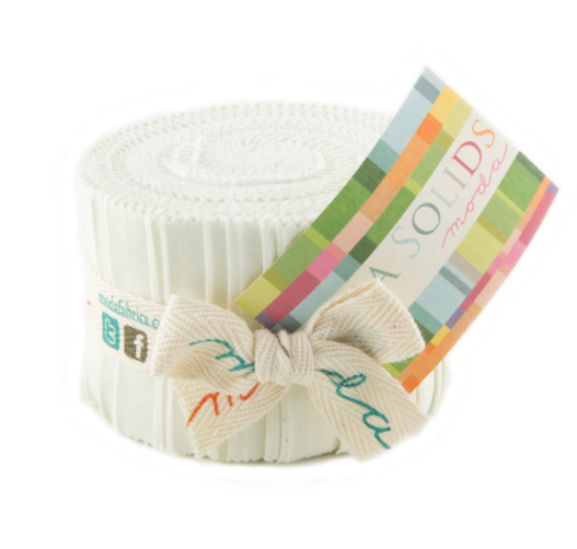 Moda Fabrics - Bella Solids Porcelain Junior Jelly Roll 9900JJR 182
