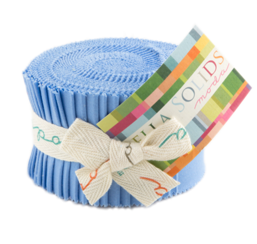 Moda Fabrics - Bella Solids 30s Blue Junior Jelly Roll 9900JJR 25