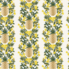 Primavera Pineapple Stripe Cream Metallic Fabric by Cotton + Steel
