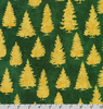 Winter's Grandeur 8 - Trees Green/Gold Metallic by Robert Kaufman AXBM-19334-7 GREEN