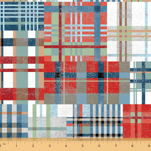 Across The USA Country Plaid by Whistler Studios for Windham Fabrics