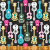 Fiesta Serenade Black by Jill McDonald for Windham Fabrics 51950-1