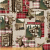 Home Sweet Cabin Khaki by Whistler Studios for Windham Fabrics 51080-1