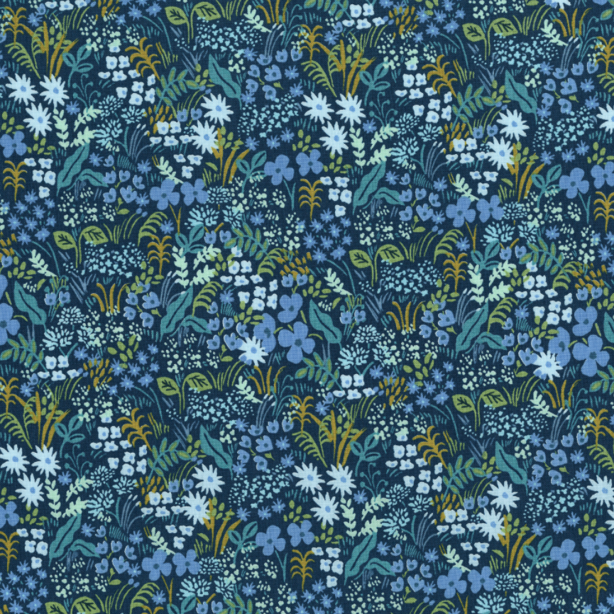 Cotton + Steel - English Garden Meadow Blue by Rifle Paper Co. AB8059-002